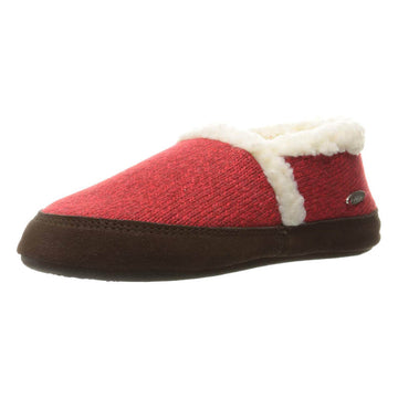 Acorn Women's Slipper - Moc Ragg Wool Red | A10153