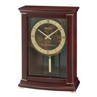 Seiko Wood Mantel Clock - Classic Gold & Brown Dial Brown | QXQ033BLH