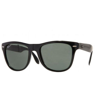 Ray-Ban RB 4105 601-58 50 Unisex Black Nylon Frame Wayfarer Folding Classic Polarized Green G-15 Lenses Sunglasses