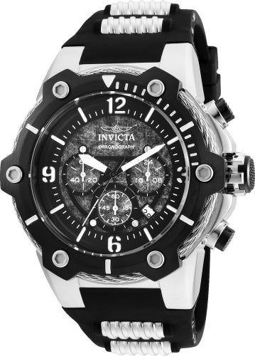 Invicta Men's Chronograph Watch - Bolt Black Dial Quartz | 25470