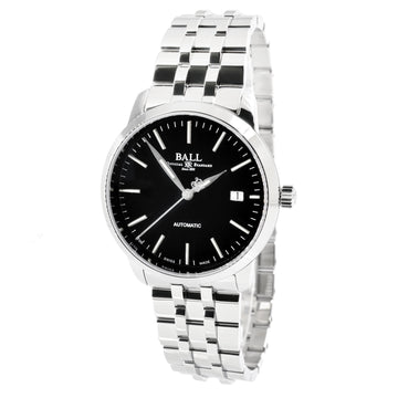 Ball Men's Automatic Watch - Trainmaster Legend Black Dial Bracelet | NM2030D-SJ-BK
