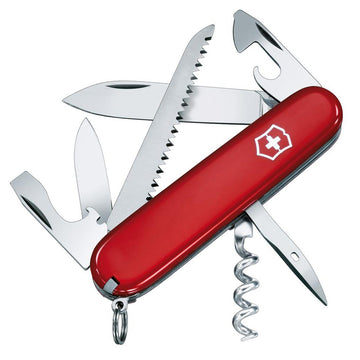 Swiss Army 53301 Victorinox Everyday-Use Camper Red Handle Multi-Tool Pocket Knife