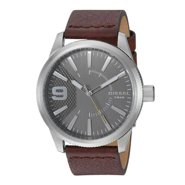 Diesel DZ1802 Rasp Grey Dial Men's Brown Strap Quartz Watch