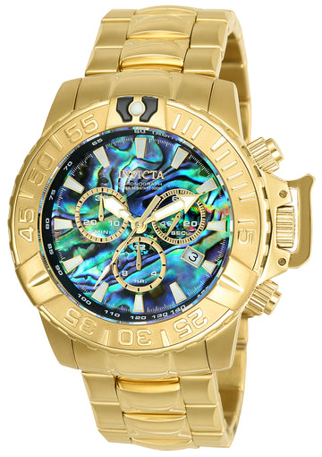 Invicta Men's Chronograph Watch - Subaqua Noma II Abalone Dial Yellow Steel | 25098