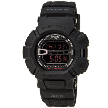 Casio G9000MS-1 Herren G-Shock World Time Schwarzes Harzarmband Schwarzes digitales Zifferblatt Quarz-Taucheruhr