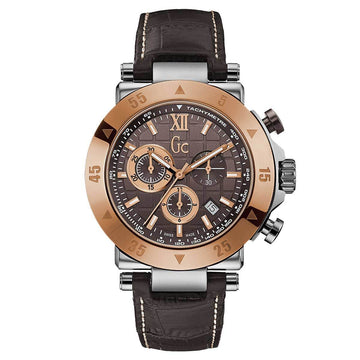 Guess Men's Chronograph Watch - Sport Chic GC-1 Brown Dial | X90020G4S