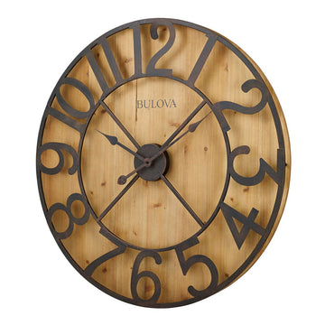 Bulova C4814 Silhouette Oversized Brown Dial Gallery Wall Clock