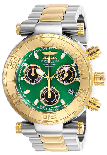 Invicta Men's Chronograph Watch - Subaqua Noma I Green & Black Dial Quartz | 25804
