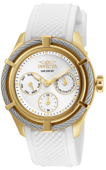 Invicta 24456 Women's Bolt Sport Silver Dial White Silicone Strap Dive Watch