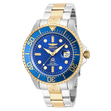 Invicta 20144 Men's Grand Diver Automatic Diamond Blue Dial Two Tone Bracelet Dive Watch