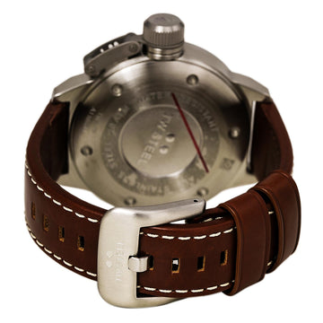 TW Steel TW21N Men's Canteen Brown Leather Strap Quartz Cream Dial Date Watch