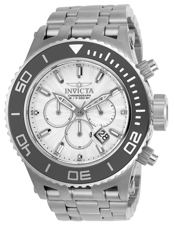 Invicta 23934 Men's Subaqua Silver Dial Chronograph Stainless Steel Bracelet Dive Watch