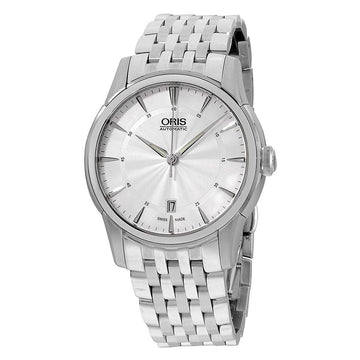 Oris 73376704051MB Men's Artelier Date Silver Dial Stainless Steel Watch