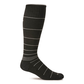 Sockwell Men's Knee High Socks - Circulator Graduated Compression, Black 2 | SW1M