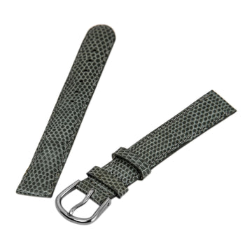 Debeer Light Grey 14 mm Wide Genuine Lizard Leather Strap