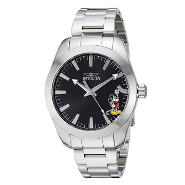 Invicta Men's Bracelet Watch - Disney Black Dial Stainless Steel Dive | 25236
