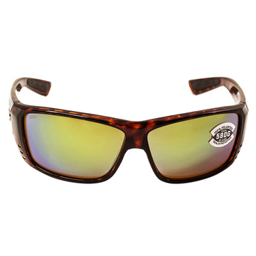 110a9a1198 Costa Del Mar AT10OGMGLP Men s Cat Cay Polarized Green Mirror 580G Lens  Tortoise Frame Sunglasses
