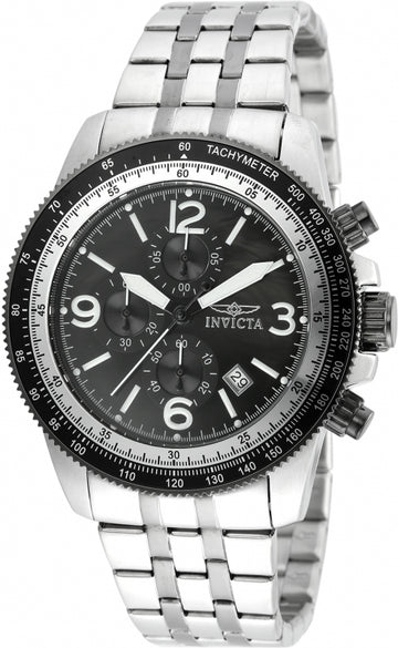 Invicta 21389 Men's Specialty Black Oyster Dial Two Tone Steel Chronograph Watch