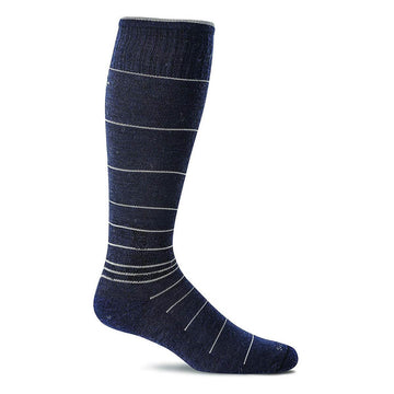 Sockwell Men's Knee High Socks - Circulator Graduated Compression, Navy | SW1M
