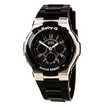 Casio Women's Alarm Watch - Baby-G Quartz Black Ana-Digital Dial | BGA110-1B2