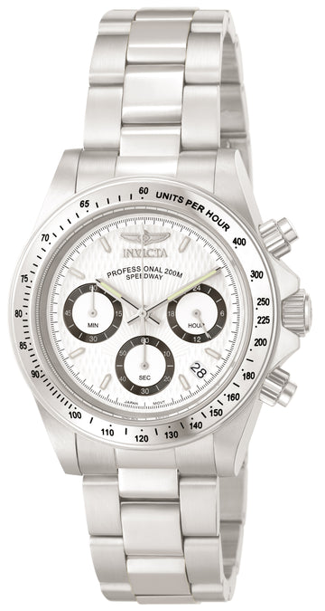 Invicta Men's Chronograph Stainless Steel Watch - Speedway Quartz White Dial | 9211