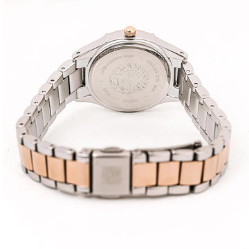Anne Klein 2433WTRT Women's Two Tone Rose Gold Steel Quartz White Dial Watch