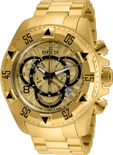 Invicta 24263 Men's Excursion Gold Tone Dial Yellow Gold Steel Bracelet Chronograph Dive Watch