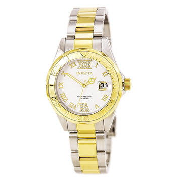 Invicta 14791 Women's Pro Diver Crystal Accented Silver Dial Two Tone Bracelet Dive Watch