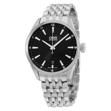 Oris 73377134034MB Men's Artix Black Dial Steel Bracelet Automatic Watch