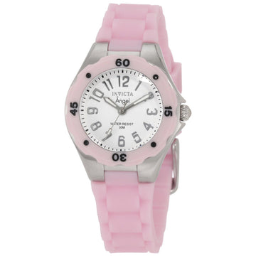 Invicta 1612 Women's Pink Silicone Band Swiss Quartz Angel Jellyfish White Dial Watch