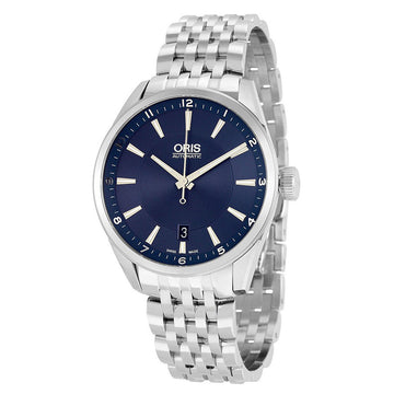 Oris 73377134035MB Men's Artix Date Blue Dial Stainless Steel Automatic