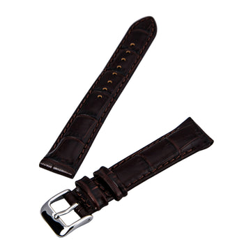 Hadley Roma Brown 18 mm Wide Genuine Italian Calfskin Leather Strap