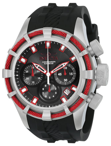 Invicta Men's Chronograph Watch - Bolt Sport Black Dial Rubber Strap Dive | 22151