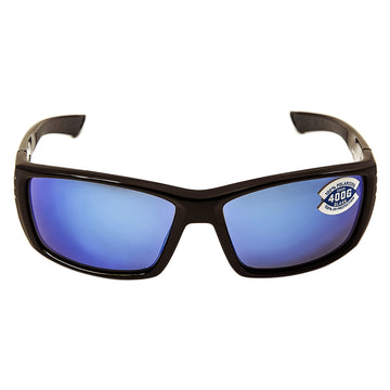 Costa Del Mar CZ11BMGLP Men's Cortez Polarized 400G Blue Mirror Lens Shiny Black Frame Sunglasses
