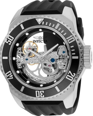 Invicta Men's Automatic Watch - Russian Diver Skeleton Dial Rubber Strap | 25610