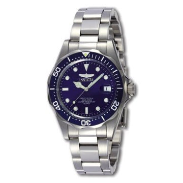 Invicta Men's Stainless Steel Watch - Pro Diver Blue Dial Quartz Bracelet | 9204