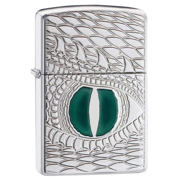Zippo Windproof Pocket Lighter - Dragon Eye High Polish Chrome | 28807