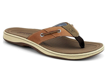 Sperry 1451418 Men's Baitfish Tan Leather Flip-Flop