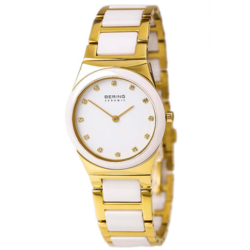Bering 32230-751 Women's Ceramic Quartz Yellow Gold Steel & Ceramic Bracelet Watch