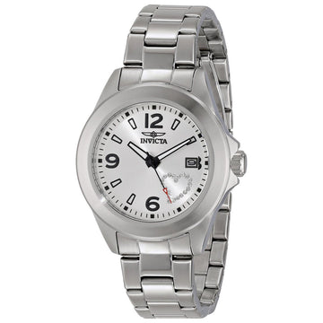 Invicta 16326 Women's Steel Bracelet Quartz Specialty Crystal Silver Dial Date Watch