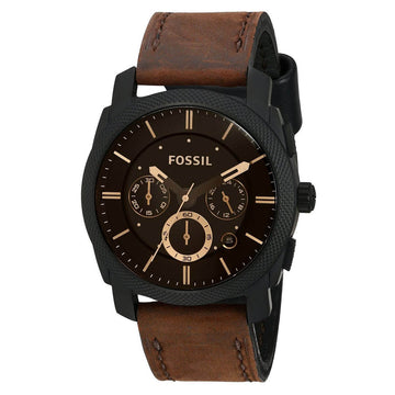 Fossil FS4656 Men's Machine Chrono Quartz Brown Dial Watch