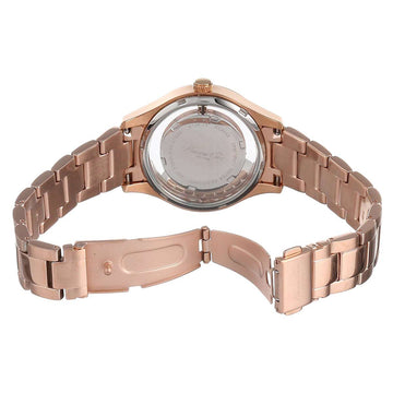 Kenneth Cole KC4943 Women's Transparency Silver Dial Rose Gold Steel Floating Stones Watch