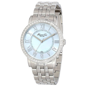 Kenneth Cole KC4973 Women's Stainless Steel Bracelet Quartz Classic Mother of Pearl Dial Date Watch