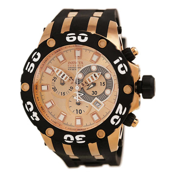 Invicta 0919 Men's Swiss Quartz Reserve Subaqua Chrono Rose Gold Dial Date Watch