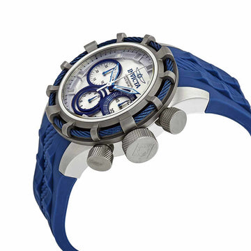 Invicta Men's Chronograph Watch - Bolt Sport Silver & Blue Dial Blue Strap | 22152