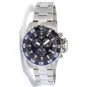 Invicta 13625 Men's Pro Diver Blue Dial Stainless Steel Bracelet Chronograph Watch