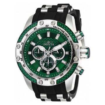 Invicta Men's Chronograph Watch - Speedway Green Glass Fiber Dial | 25938