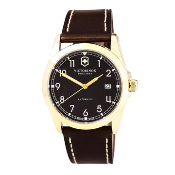 Swiss Army 241646 Men's Infantry Brown Dial Brown Leather Strap Mechanical Automatic Watch