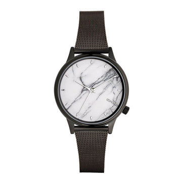Komono Women's Black Mesh Bracelet Watch - Estelle Royale Marble Dial | KOM-W2867