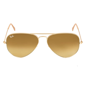 Ray-Ban RB 3025 112-85 58 Aviator Brown Gradient Lenses Gold Metal Frame Unisex Sunglasses